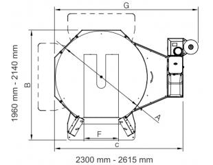 Ovinovací stroj palet CYKLOP CST 202